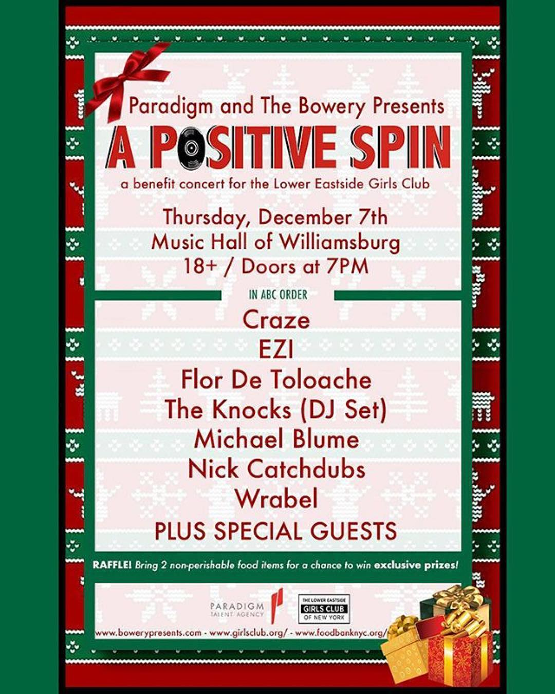 A Positive Spin - Dec 7 NYC